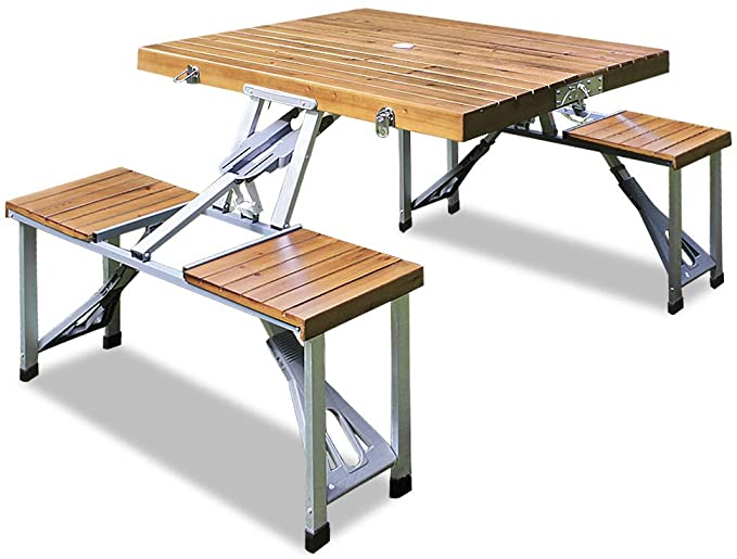 table de camping en bois